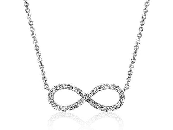 1/10 CT. Infinity Diamond Necklace in 14k White Gold