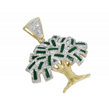 2.0 CT. Money Tree Diamond Pendant in 10K Yellow Gold