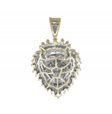 1.0 CT. Roaring Lion Diamond Pendant in 10K Yellow Gold