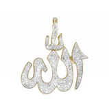 0.48 CT. Allah Diamond Pendant in 10K Yellow Gold