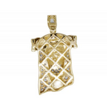 1.25 CT. Jesus Diamond Pendant in 10K Yellow Gold