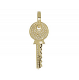 0.75 CT. Diamond Key Pendant in 10K Yellow Gold