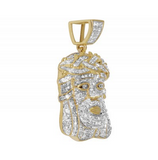 1.0 CT. Jesus Diamond Pendant in 10K Yellow Gold