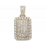 3.0 CT. Solid Dome Pillow Diamond Pendant in 10K Yellow Gold