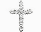 2.0 CT. Prong Set Diamond Cross Pendant in 14K Gold
