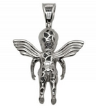0.35 CT. Baby Angel Pendant in 10K Yellow Gold