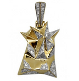 0.50 CT. Crown of Thorns Diamond Pendant in 10K Yellow Gold