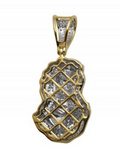 0.55 CT. Praying Jesus Diamond Pendant in 10K Yellow Gold