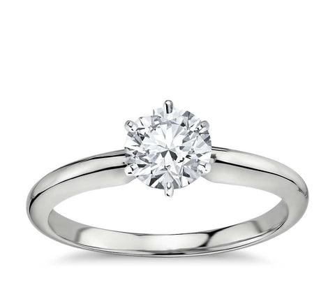 1.00 CT. Classic Six-Claw Solitaire Engagement Ring in White Gold
