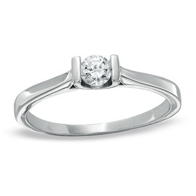 0.20 CT. Diamond Solitaire Engagement Ring in 10K White Gold
