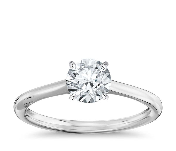 0.50 CT. Petite Solitaire Engagement Ring in White Gold