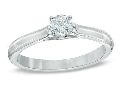 0.30 CT. Diamond Solitaire Ring in 14K White Gold