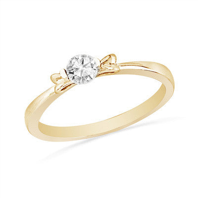0.25 CT. Diamond Solitaire Ring with Bow in 10K Gold