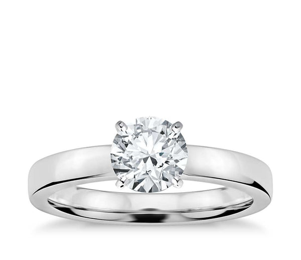 0.75 CT. Low Dome Solitaire Engagement Ring in White Gold