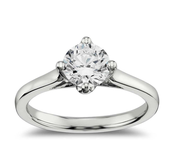 0.75 CT. East-West Solitaire Engagement Ring in White Gold