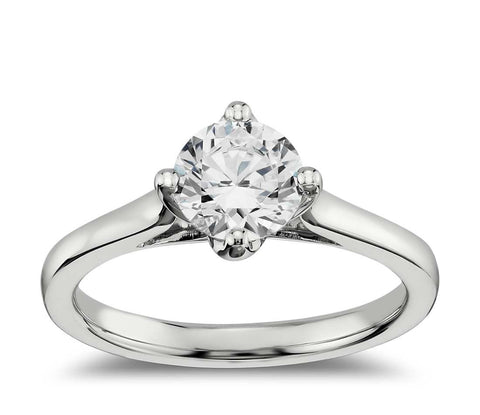 0.50 CT. East-West Solitaire Engagement Ring in White Gold