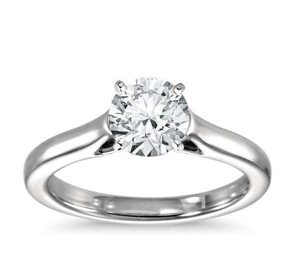 0.75 CT. Petite Trellis Solitaire Engagement Ring in White Gold