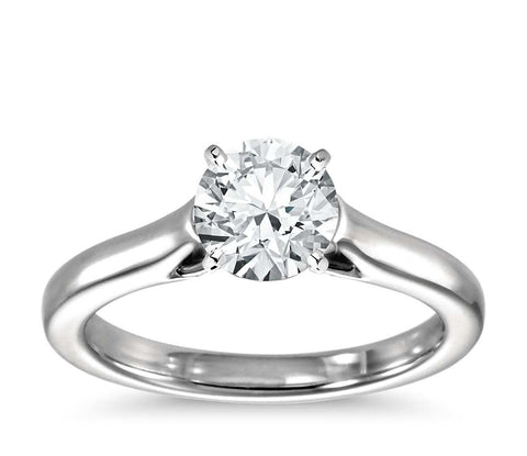1.00 CT. Petite Trellis Solitaire Engagement Ring in White Gold