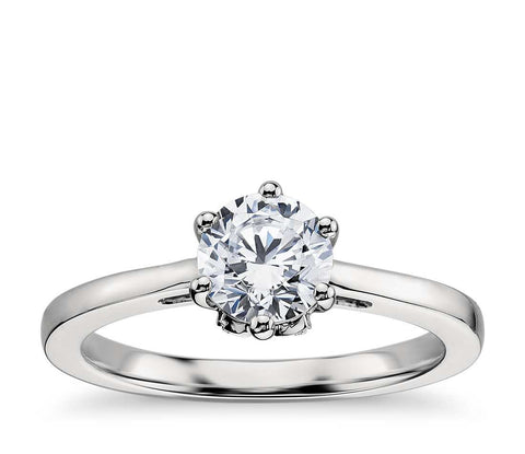 1.00 CT. Leaf Solitaire Engagement Ring in White Gold