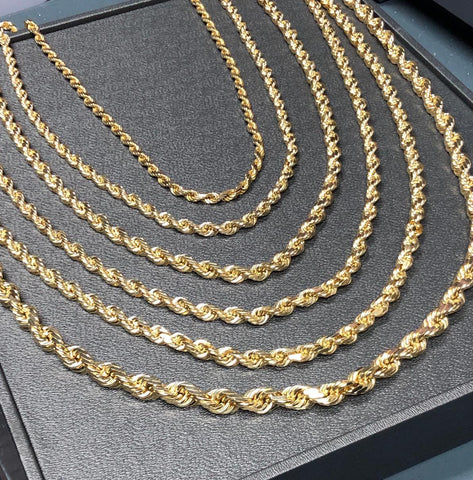 10K Gold Rope Chain - 8MM