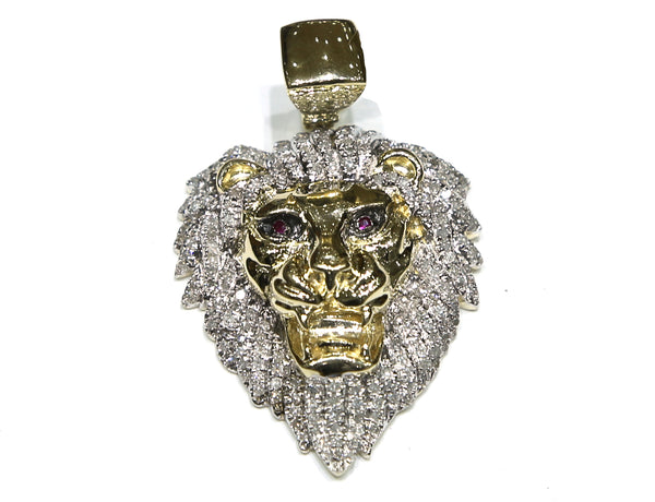 1.06 CT. Lion Diamond Pendant in 10K Yellow Gold