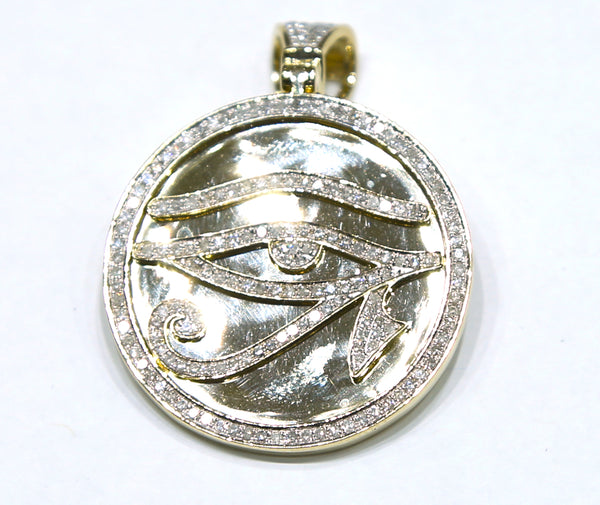 1.01 CT. Egyptian Eye Diamond Pendant in 10K Yellow Gold