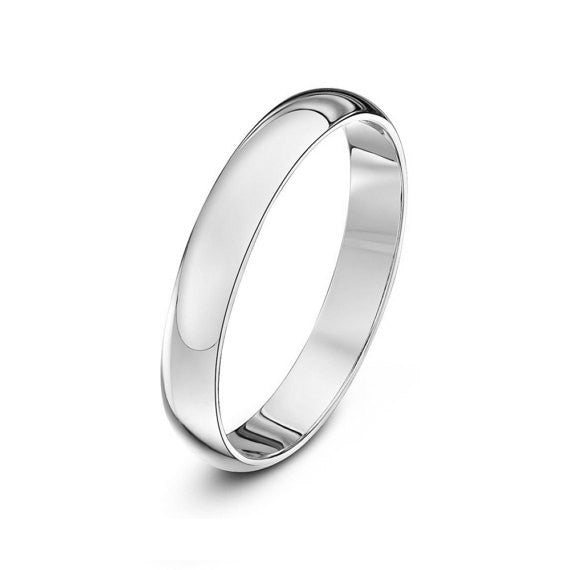 14K Gold Classic Domed Wedding Band - 2mm (Yellow or White Gold)