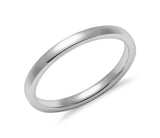14K Gold Classic Brush Finished Wedding Band - 2mm (Yellow or White Gold)