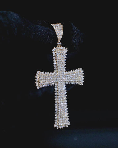 "3.50 CT. Diamond ""Cross"" Pendant in 14K Gold*"
