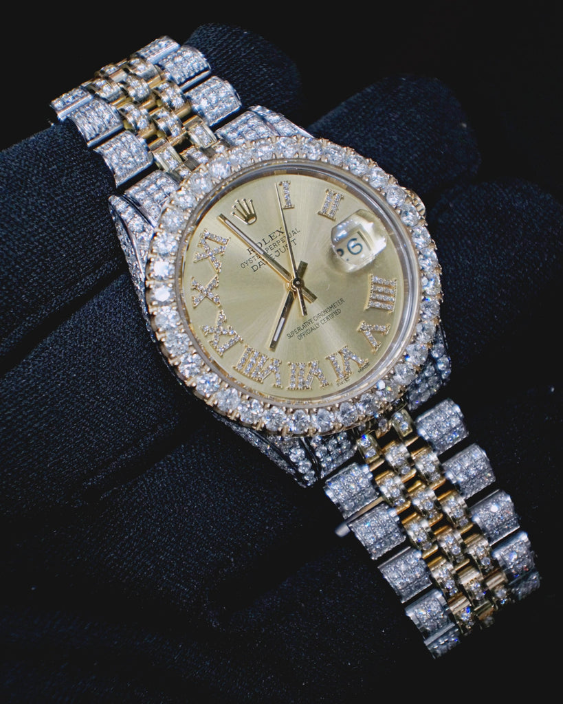 13 00 Ct Diamond Rolex Datejust Watch Special Price