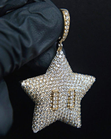"7.05 Diamond ""Star"" Pendant in 14K Gold"