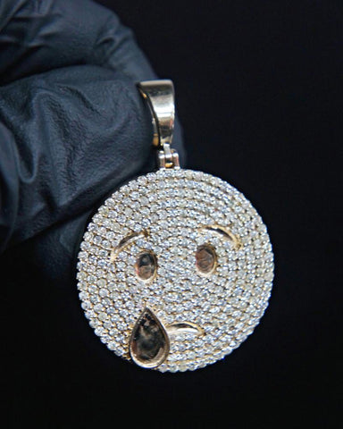 "3.25 CT. Diamond ""Emoji"" Pendant in 14K Gold*"