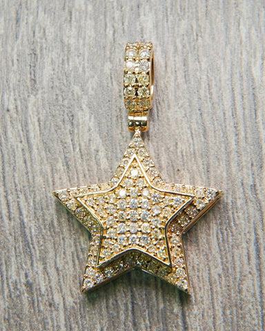"2.20 CT. ""Diamond Star"" Pendant in 10K Gold*"