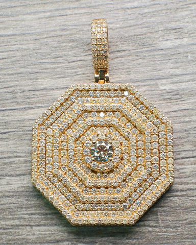 "7.05 CT. ""Diamond Octagon"" Pendant in 14K Gold*"