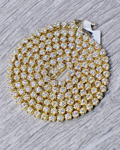 10.50 CT. Diamond Gold Chain (22 Inches) in 10K