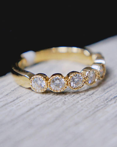 0.50 CT. Moissanite Band in 14K Gold