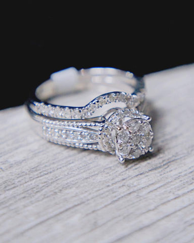 0.75 CT. Diamond Ring Set in 10K Gold