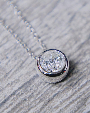0.53 CT. Diamond Necklace in 14k White Gold