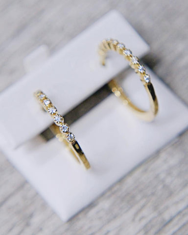 0.20 CT. Ladies' Diamond Earrings in 14K Gold