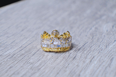 "Exclusive Men's ""Royal Crown"" Ring in 10K Gold"