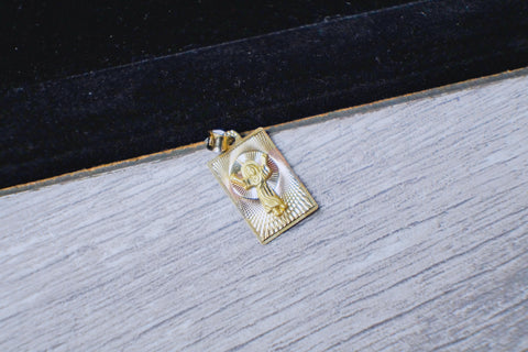 "Framed ""Jesus"" Pendant in 10K Gold*"
