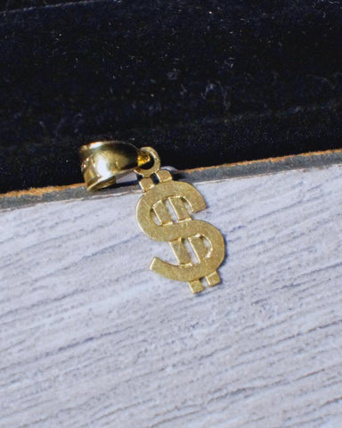 """Dollar Sign"" Pendant in 10K Gold*"