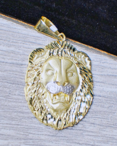 "Copy of ""Lion Baring Teeth"" Pendant in 10K Gold*"