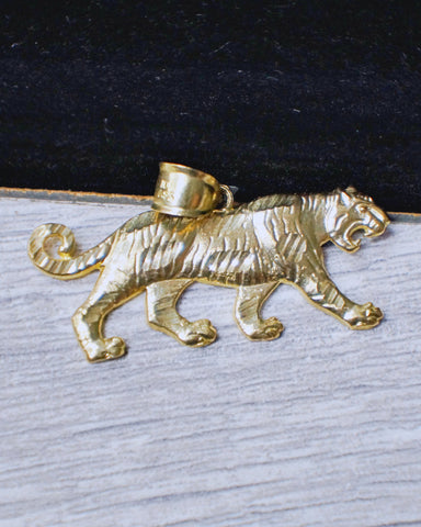 """Full Body Tiger"" Pendant in 10K Gold*"