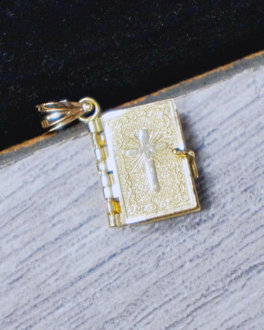 """Paged Bible"" Pendant in 10K Gold*"