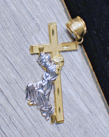 """Jesus Carrying Cross"" Pendant in 10K Gold*"