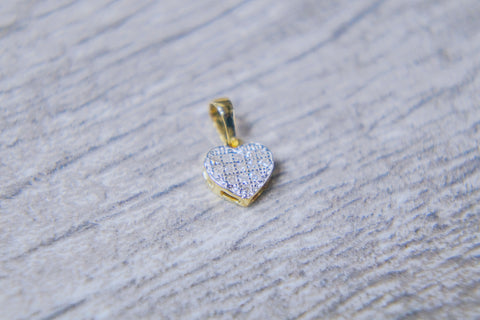 "0.10 CT. Ladies ""Heart"" Pendant in 10K Gold*"