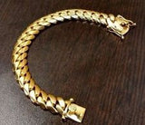 Miami Cuban Bracelet 140 Grams and 10K Gold Ring Combo
