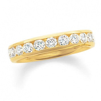 0.75 CT. Diamond Channel Band in Yellow Gold