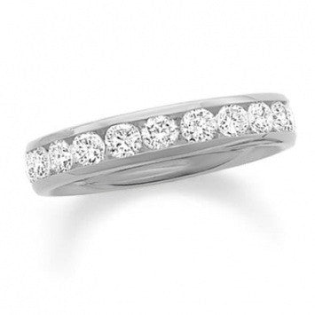 0.75 CT. Diamond Channel Band in White Gold